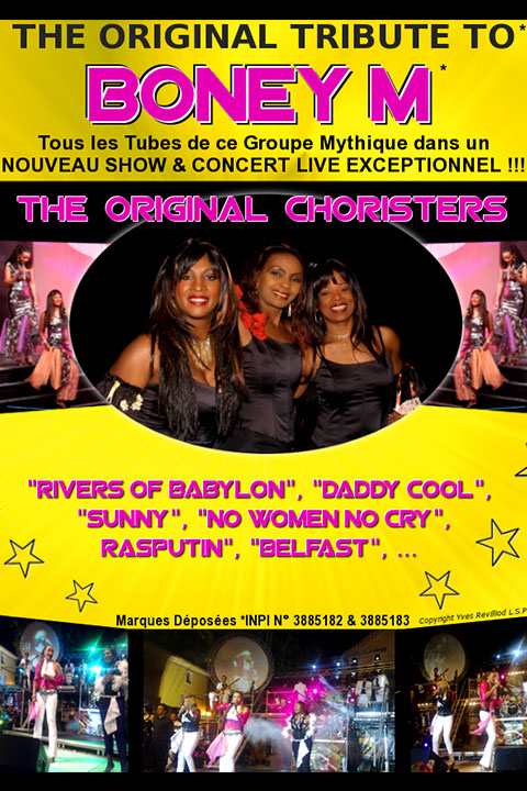 Affiche tribute to Boney M