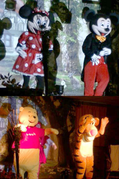 Mickey et Minnie et Tigrouet Winnie